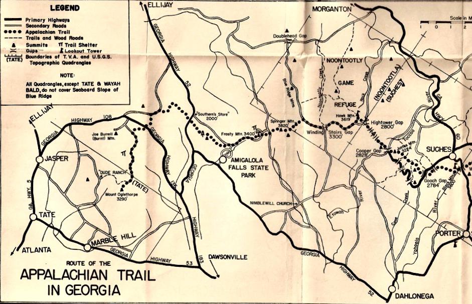 Appalachian Trail in Georgia circa 1950 | A Bent Tree Voice
