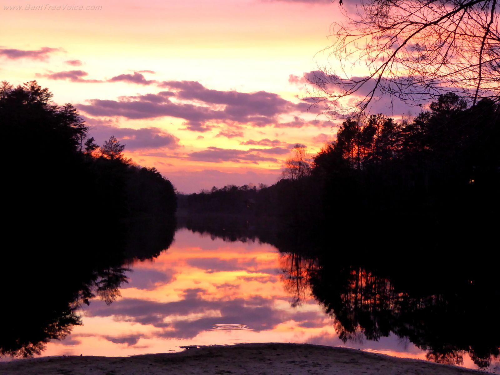 Sunset at Lake Tamarack in Bent Tree