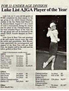 1996 Bent Tree newsletter article