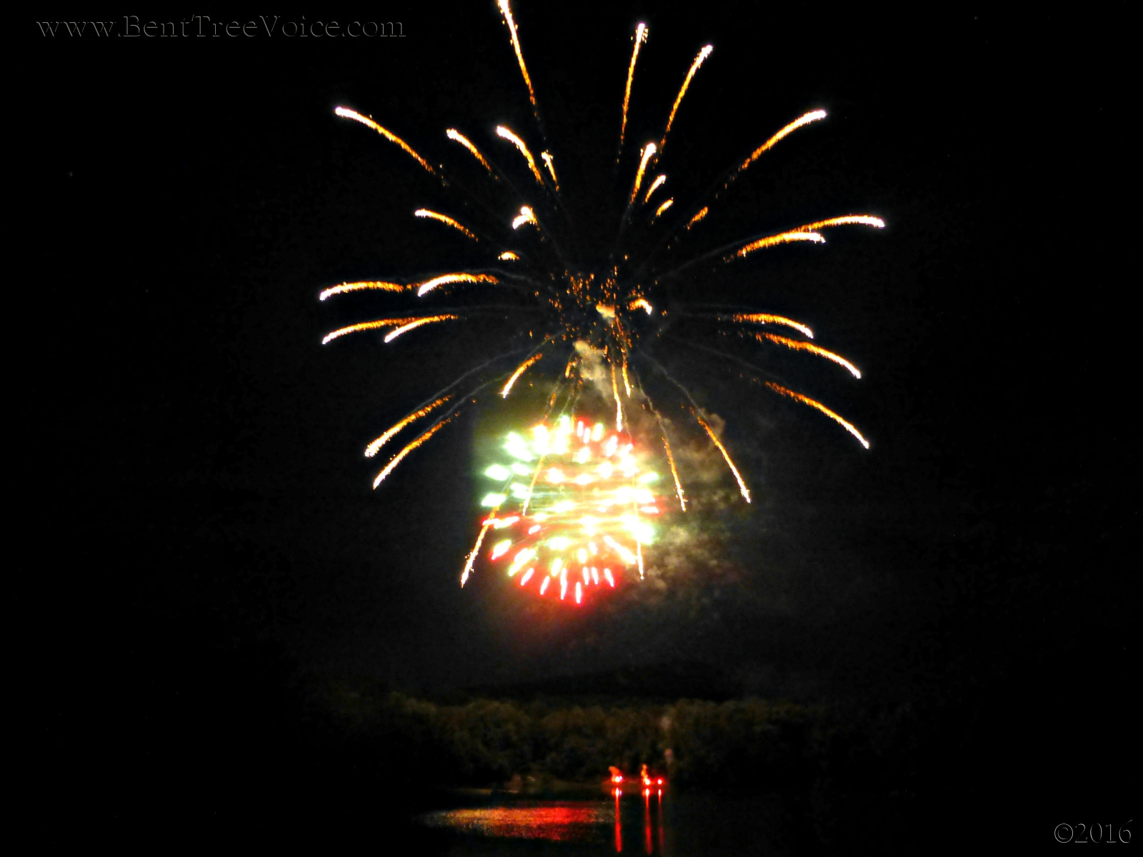 July 2, 2016 - Bent Tree fireworks over Lake Tamarack