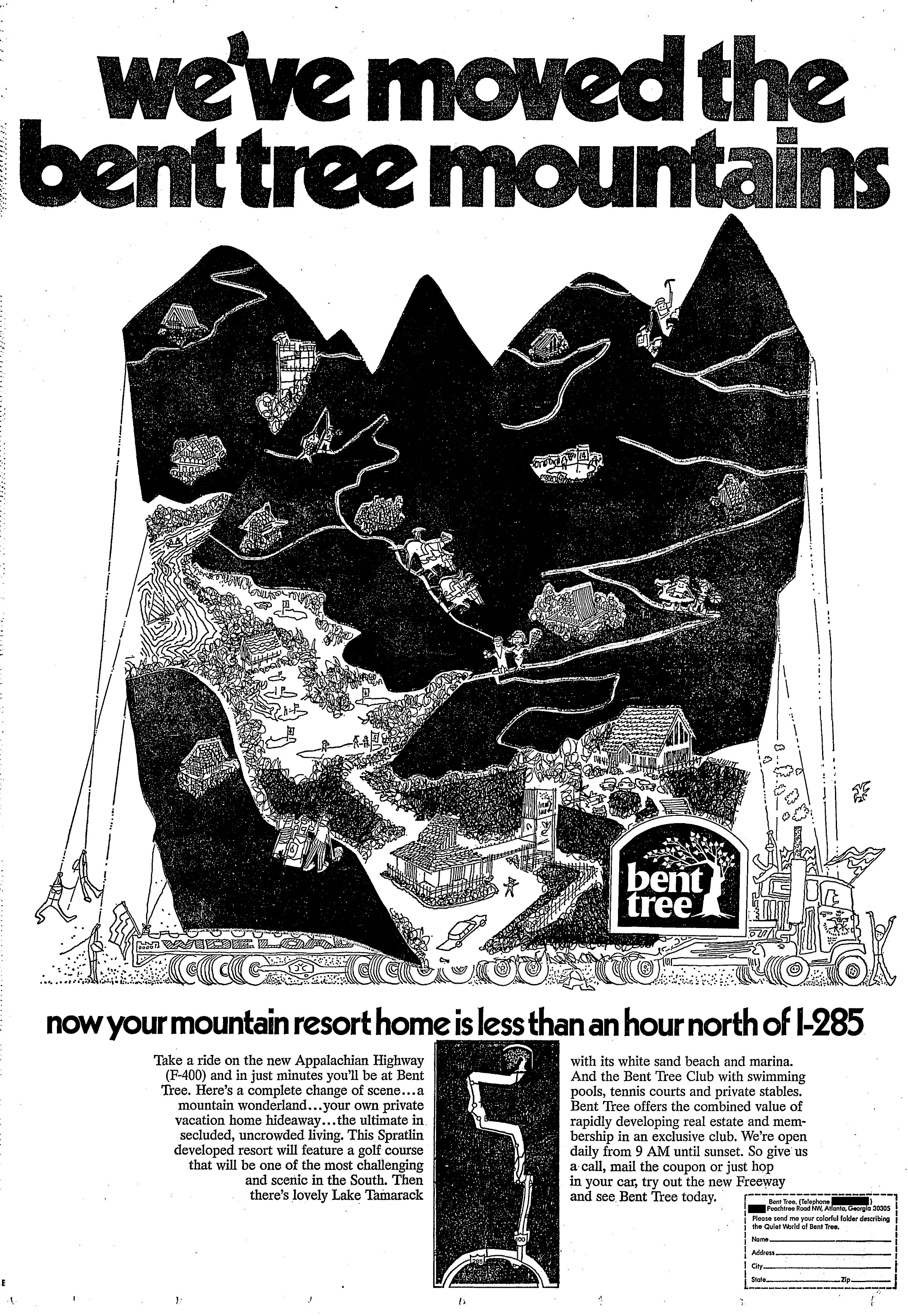 1971 ad for Bent Tree