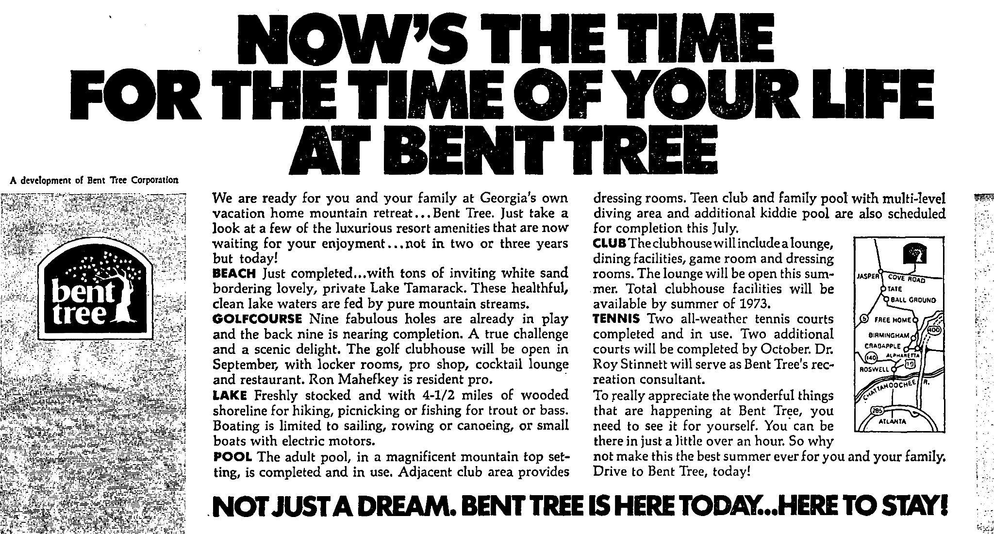 June 1972 advertisement for Bent Tree