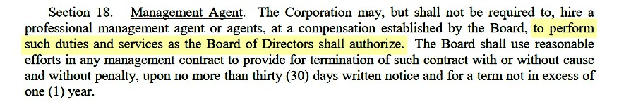 bylaws section 18
