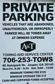 new tow sign