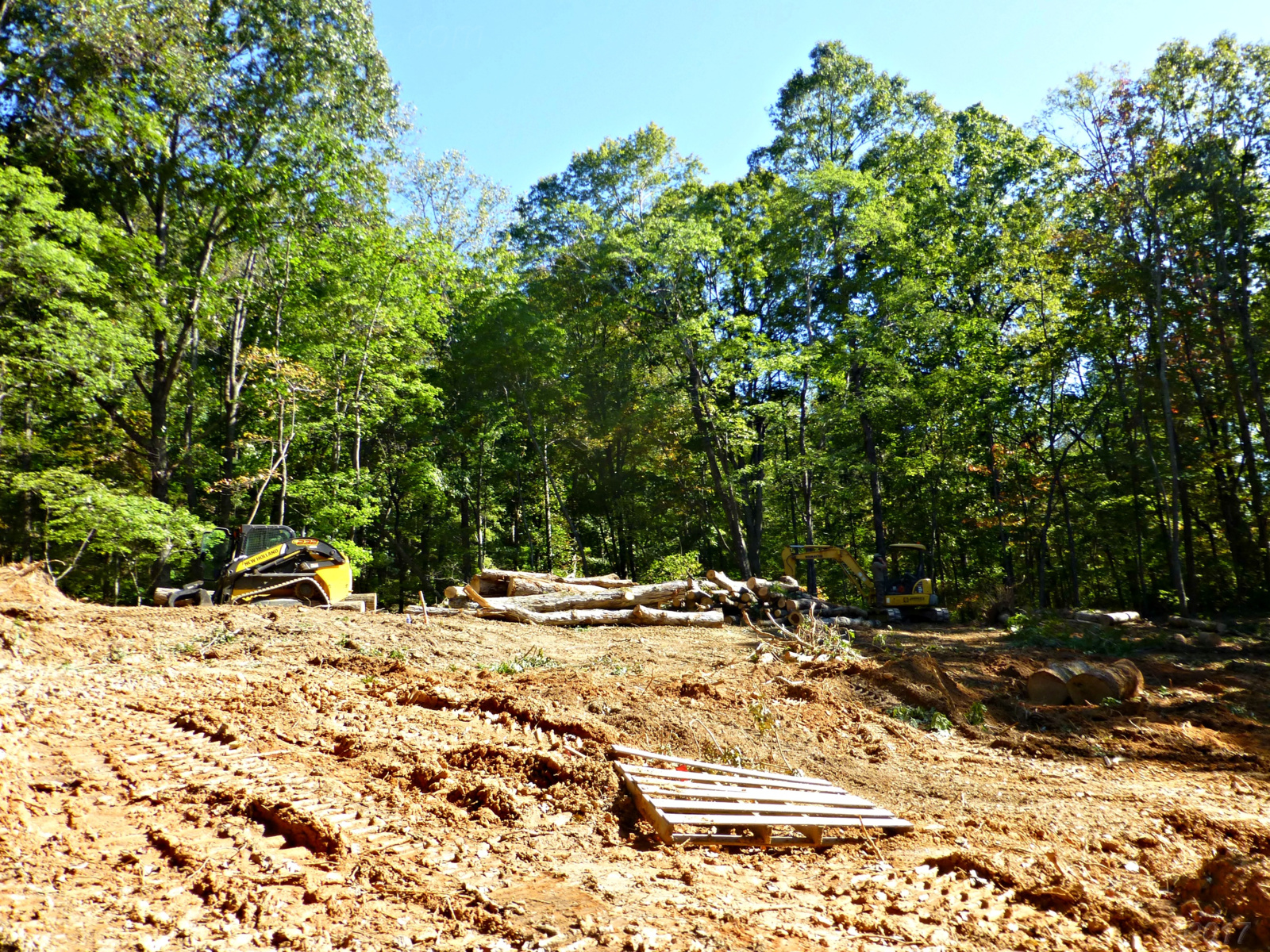 October 19, 2017 - Clearing land in Bent Tree