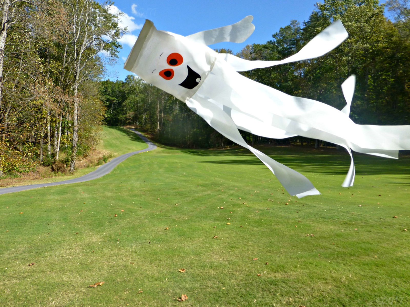 Ghost on Hole 18 of the Bent Tree Golf Course