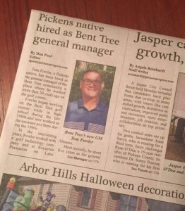 Front page of today's Pickens Progress
