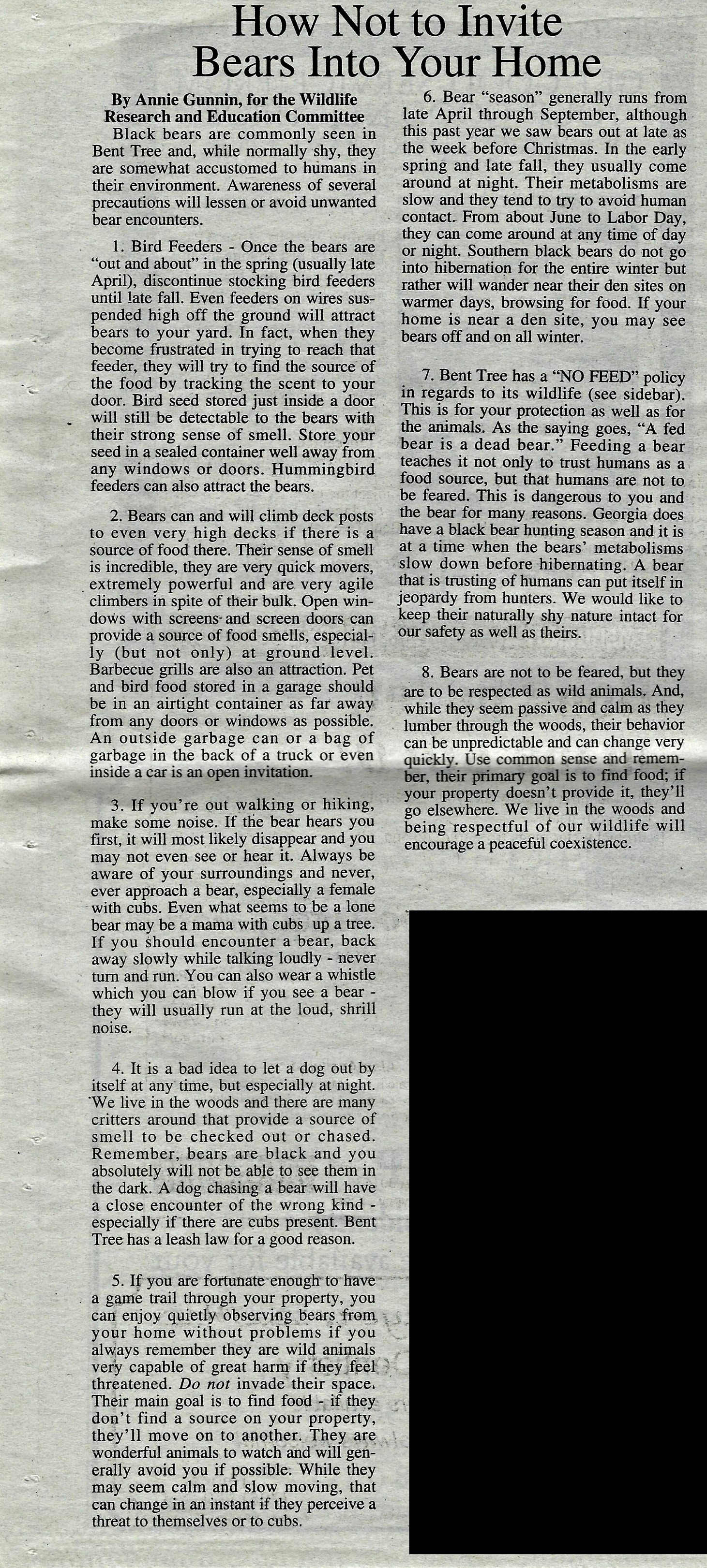 Echo article from 2003