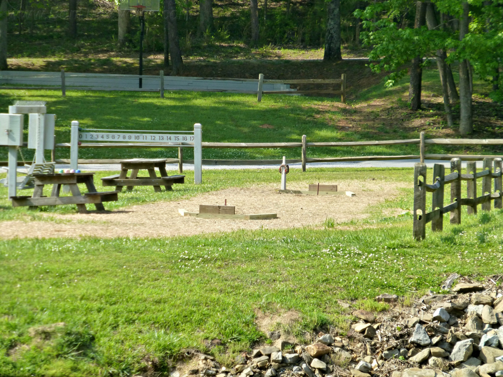 May 11, 2018 - New horseshoe pit in Bent Tree