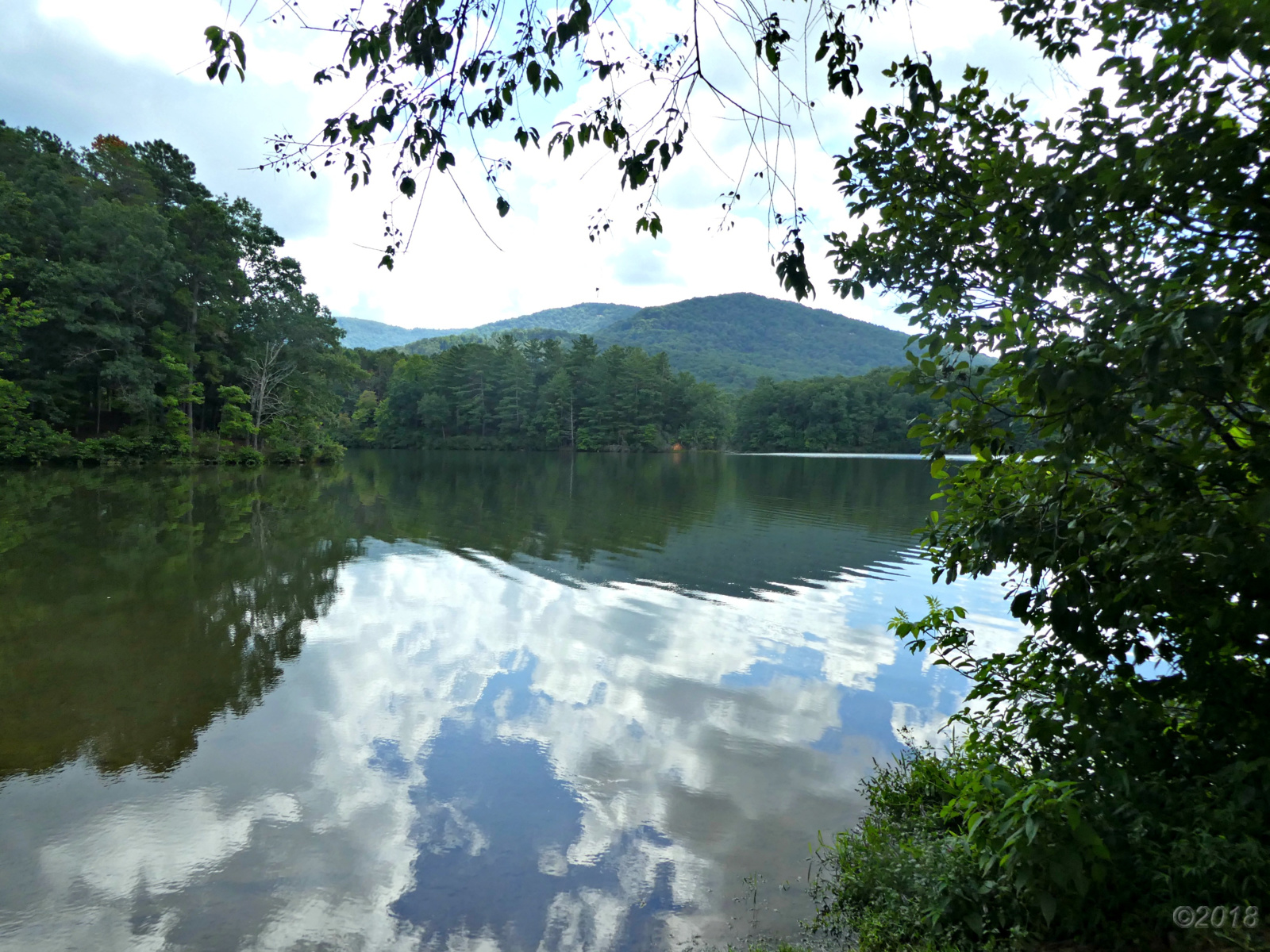 August 5, 2018 - View of Lake Tamarack from the spillway