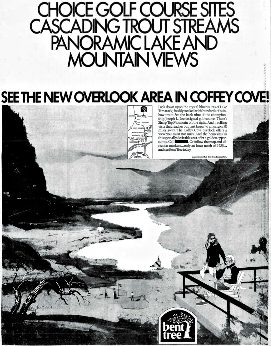February 1972 advertisement for Bent Tree