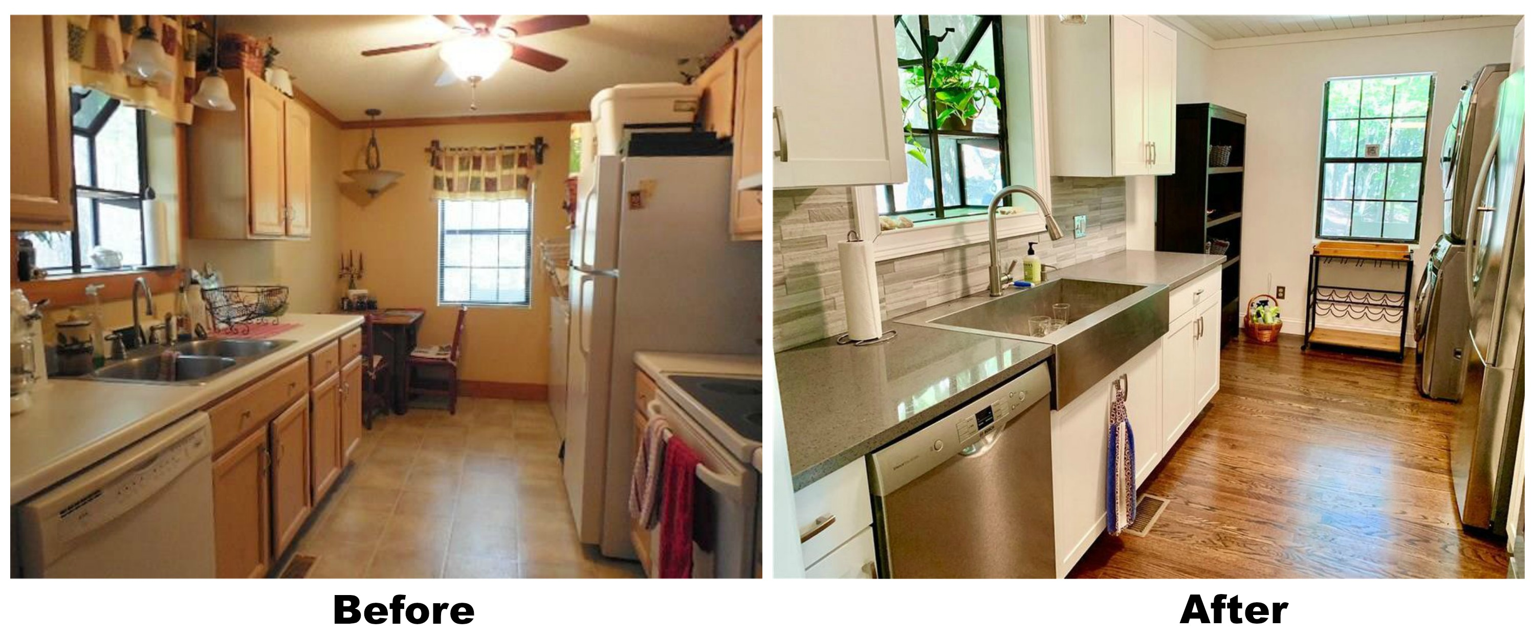 184 Panorama Pt in Bent Tree - Before and After Kitchen Update