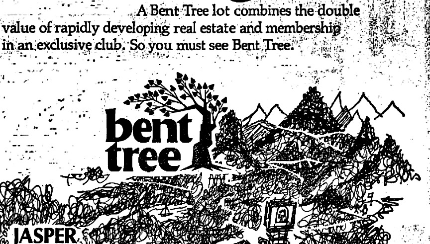from a 1970 advertisement for Bent Tree