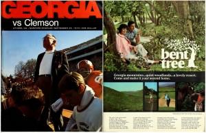 1970 0926 Bent Tree ad UGA vs Clemson