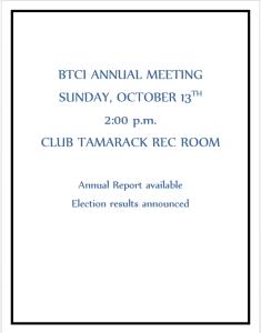 2019 1013 BTCI Annual Meeting
