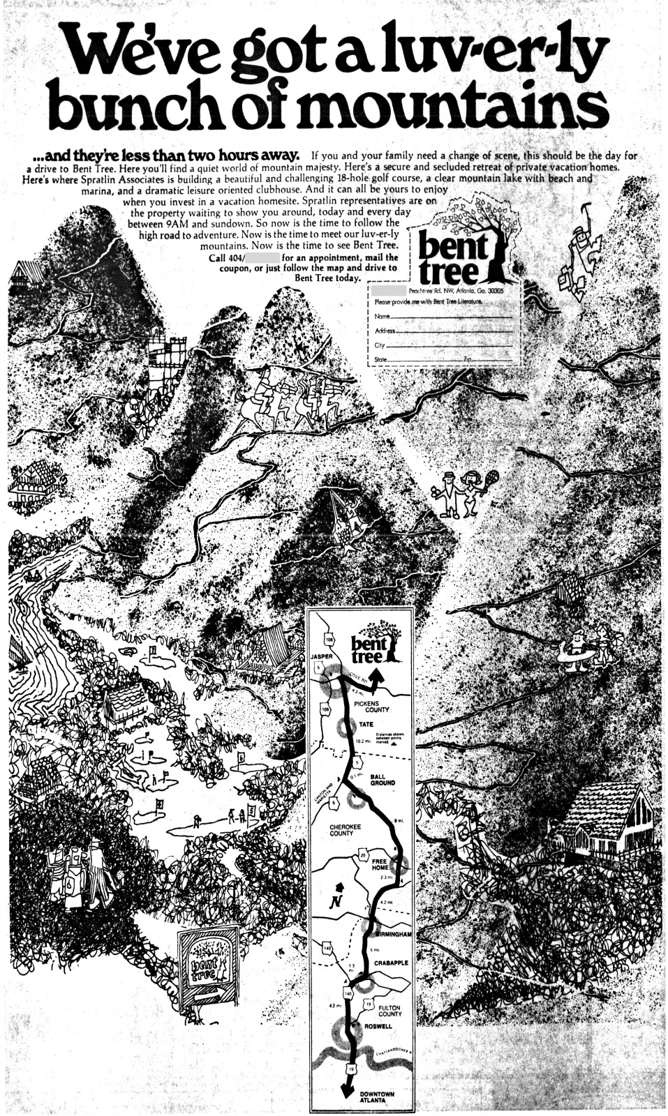 Bent Tree advertisement from November 1970