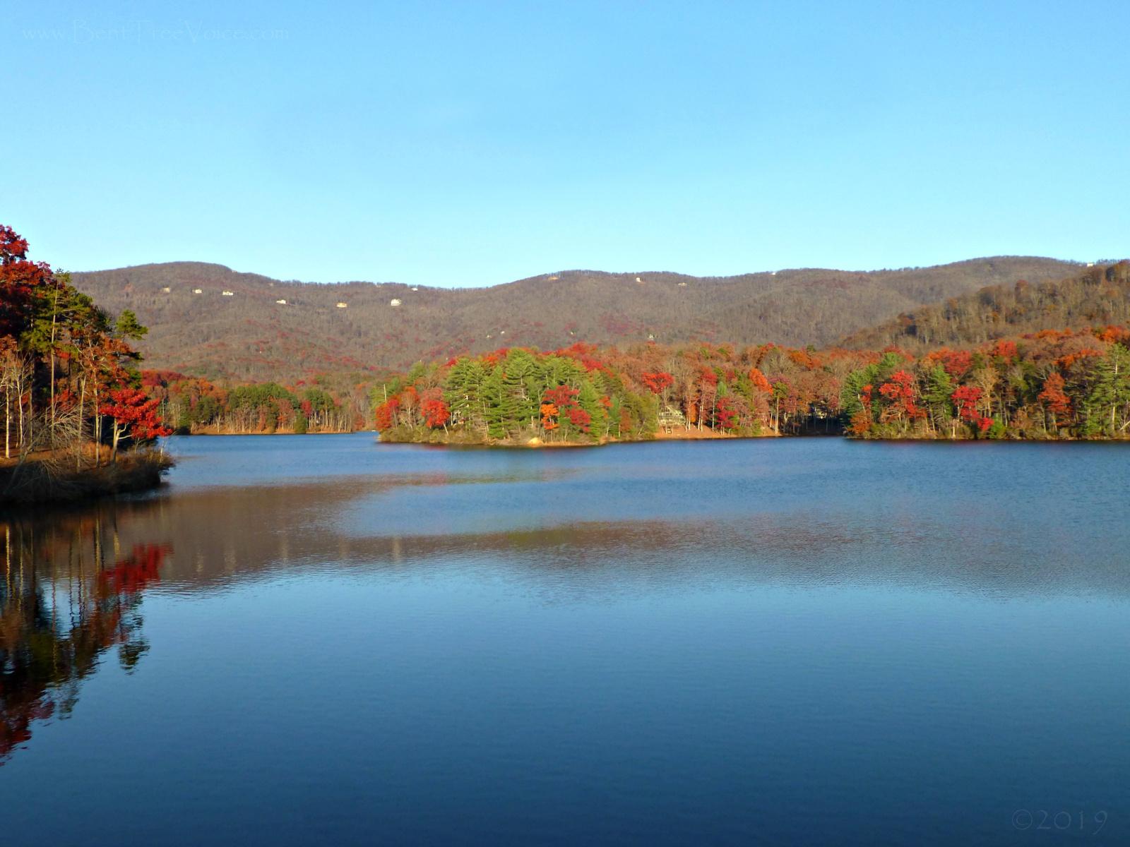 November 24, 2019 - view of Lake Tamarack from the dam