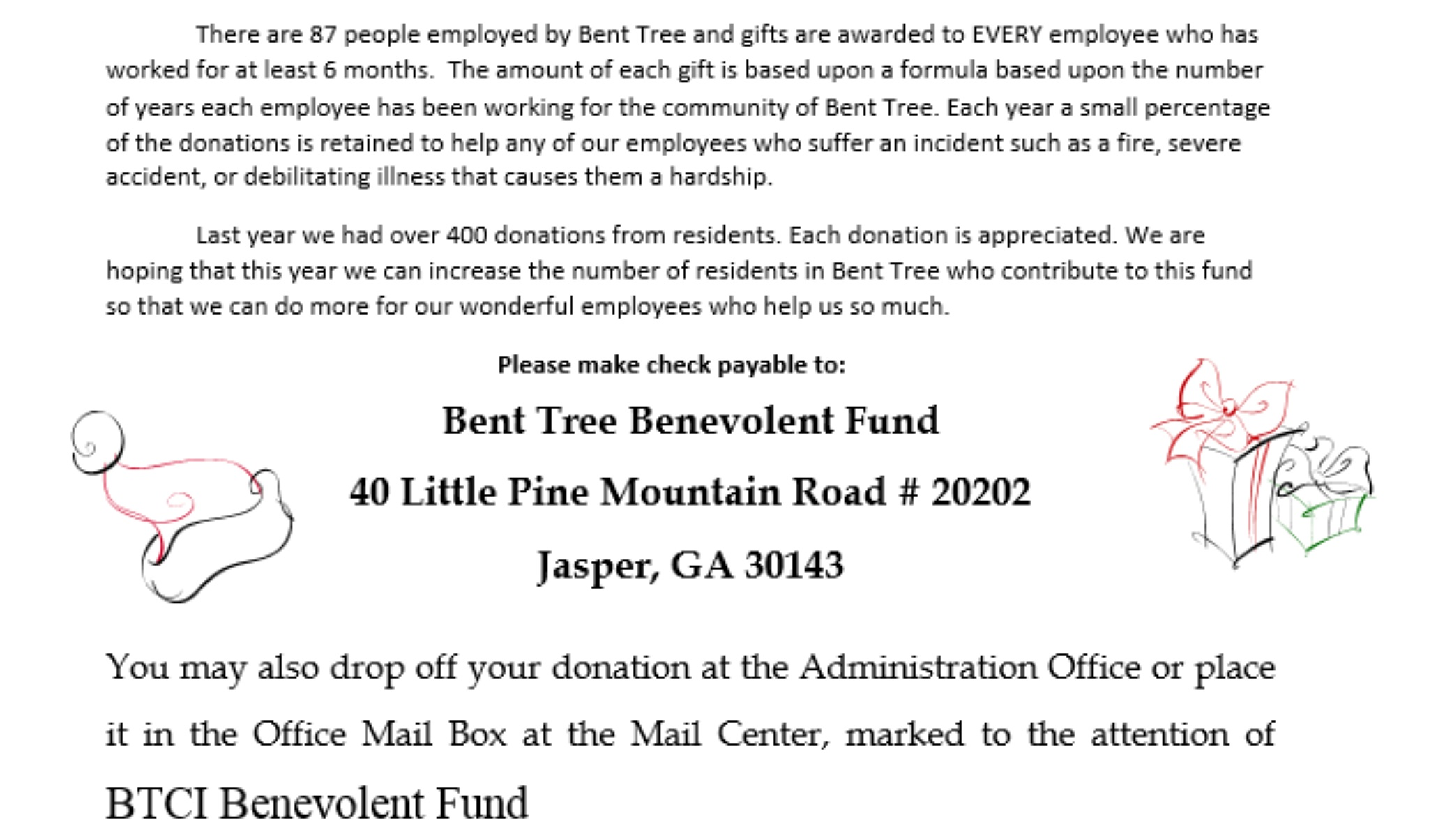 2019 Bent Tree Benevolent Fund