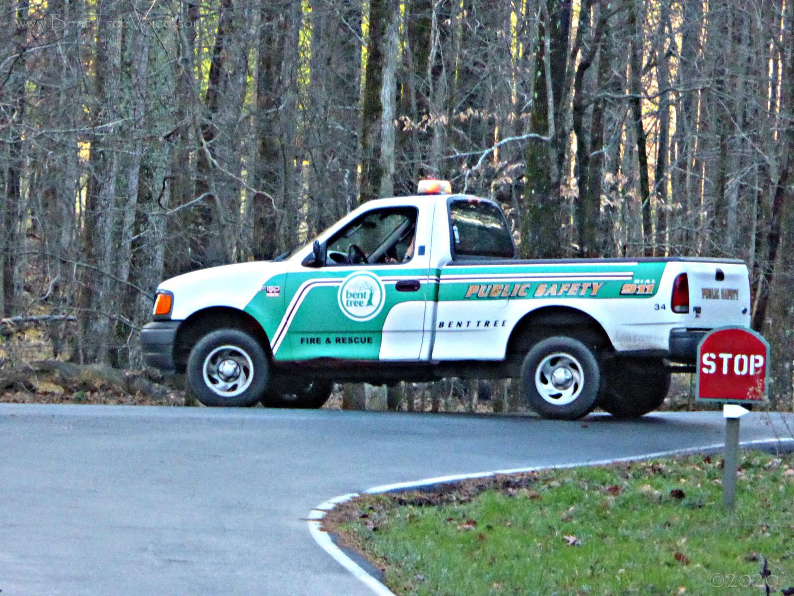 December 14, 2015 - Bent Tree Public Safety truck