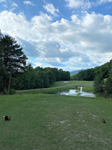 May 19, 2020 - The view from the maroon tees on Hole 7