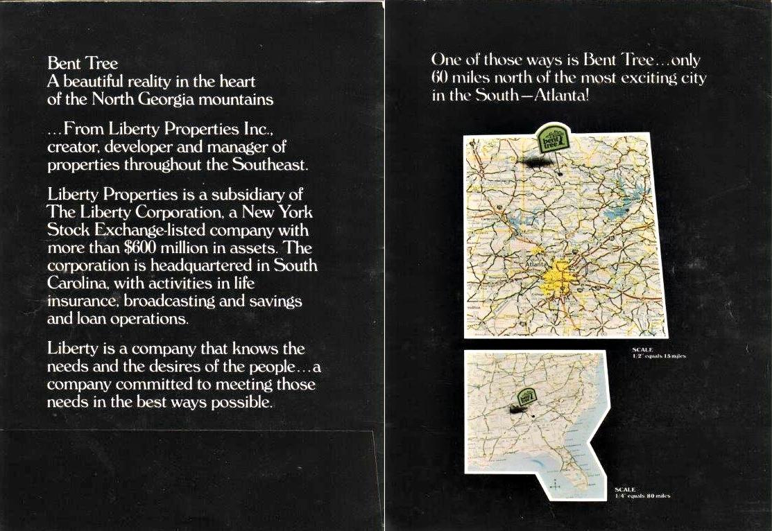 1970s Bent Tree brochure, pages 2 - 3