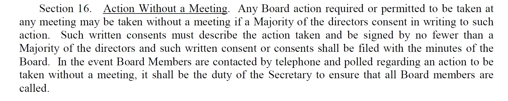 from the BTCI bylaws