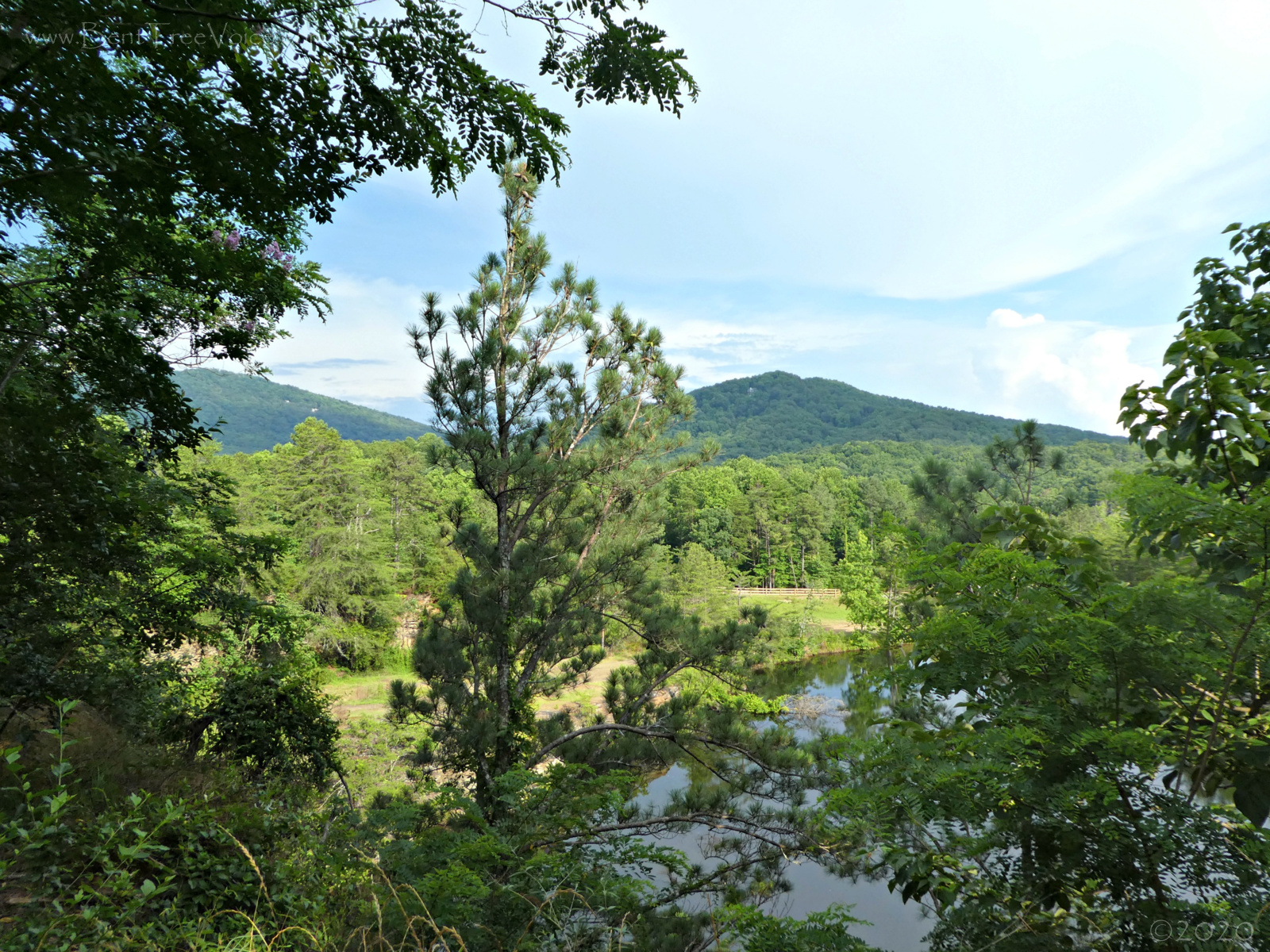 June 22, 2020 - View of the quarry pond from the Saddle Club Horse Park swing