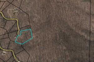 map showing lot 1618 Thunder Ridge in Bent Tree