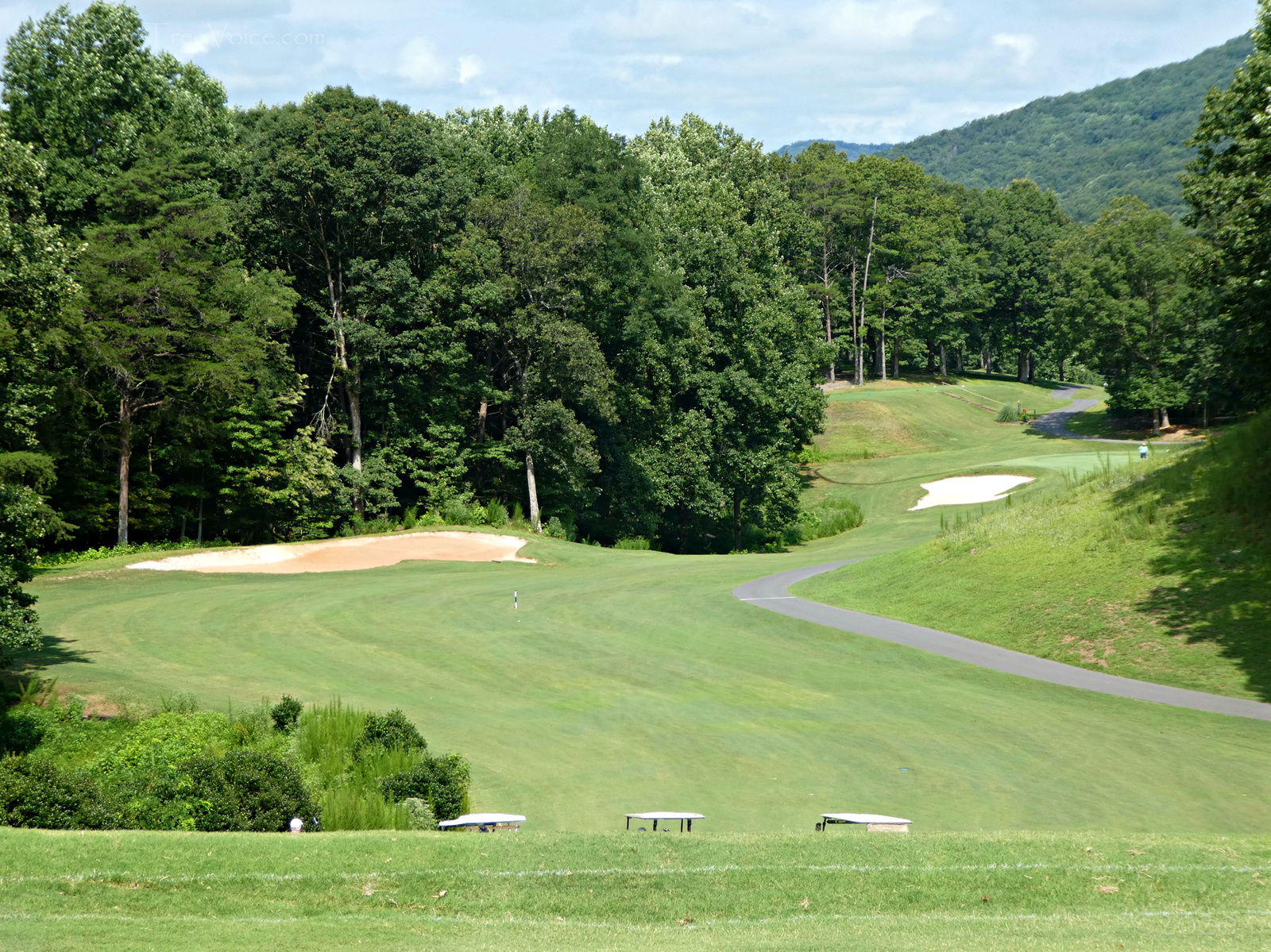 August 14, 2020 - the ridge on Hole 8 of the Bent Tree Golf Course