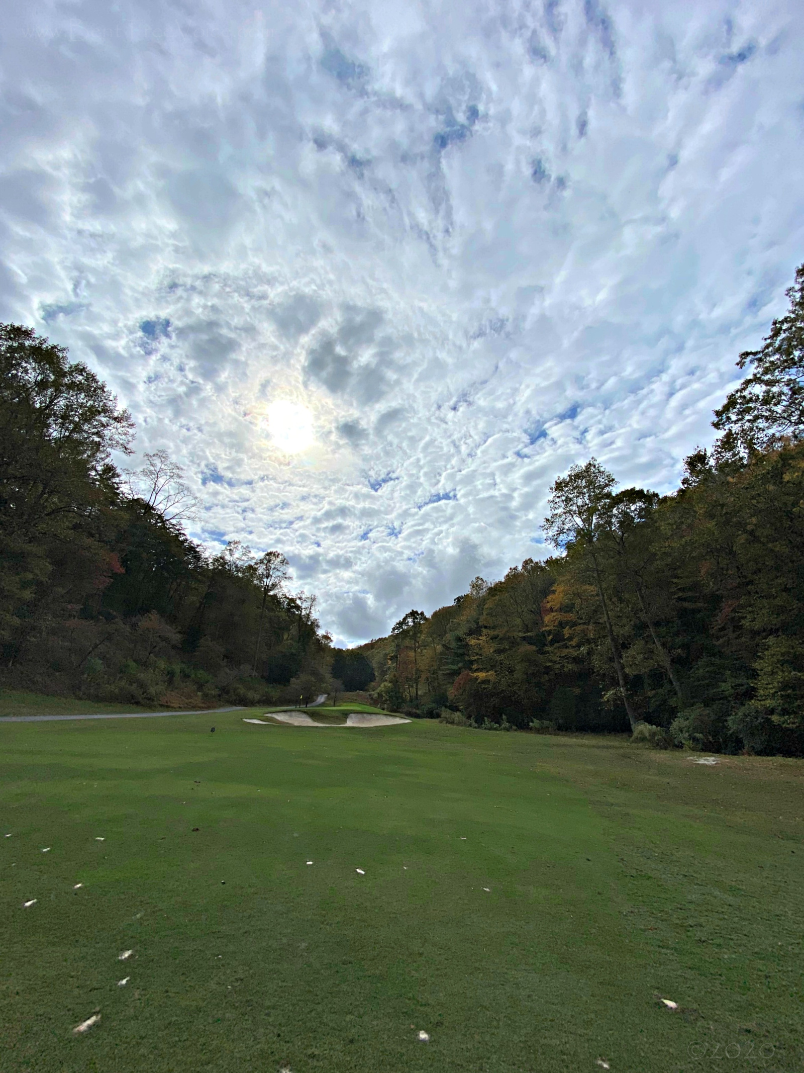 October 23, 2020 - Cool sky as seen from Hole 3 of the Bent Tree Golf Course
